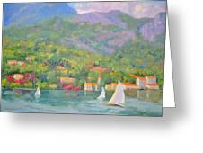 Sailing - Lake Como Greeting Card