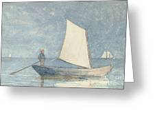 Sailing A Dory Greeting Card