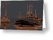 Sailing And Fishing 2 Greeting Card