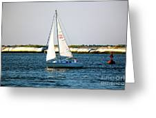 Sailing At Long Beach Island Greeting Card