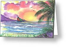 Sailing Away Greeting Card