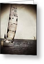 Sailing Boat Nautical 5 Greeting Card