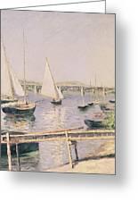 Sailing Boats At Argenteuil Greeting Card