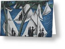 Sailing Boats Near Grunau Greeting Card