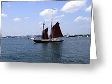 Sailing Boston Greeting Card