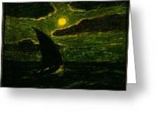 Sailing By Moonlight Greeting Card