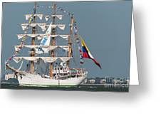 Sailing By The Battery Greeting Card