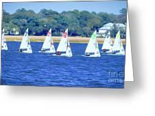 Sailing Charleston Harbor Greeting Card