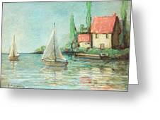 Sailing Day After Monet Greeting Card