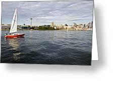 Sailing Downtown Greeting Card