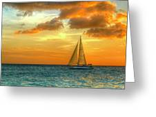 Sailing Free Greeting Card