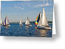 Sailing Group Seattle Greeting Card