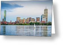 Sailing In Back Bay Greeting Card