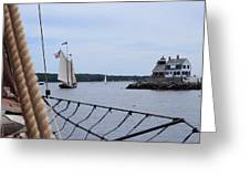 Sailing In Greeting Card