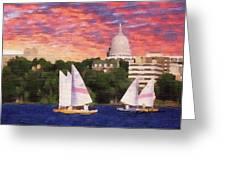 Sailing In Madison Greeting Card