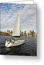Sailing In Seattle Greeting Card