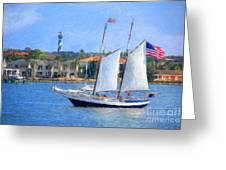 Sailing In St. Augustine Greeting Card