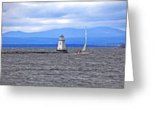 Sailing In To Open Waters Greeting Card by James Steele