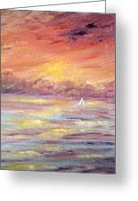 Sailing Into The Sun Greeting Card