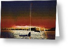 Sailing Into Twilight Greeting Card
