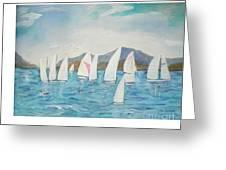 Sailing Lake Washington Greeting Card