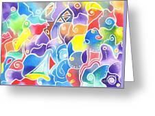 Sailing Maze Greeting Card