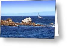 Sailing Monterey Bay Greeting Card