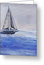 Sailing Off Cape May Point Greeting Card