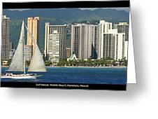 Sailing Off Waikiki Greeting Card