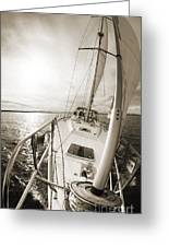 Sailing On A Beneteau 49 Sailboat Greeting Card
