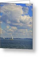 Sailing On Chiemsee Lake Greeting Card