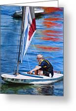 Sailing On Lake Thunderbird Greeting Card