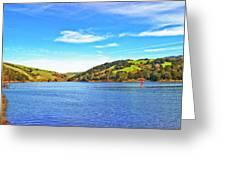 Sailing On San Pablo Dam Reservoir Greeting Card