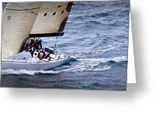 Sailing On The Straits Greeting Card