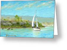 Sailing Out To Sea Greeting Card