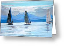Sailing Race Greeting Card