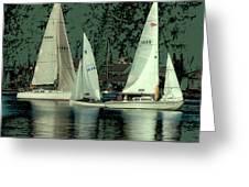Sailing Reflections Greeting Card