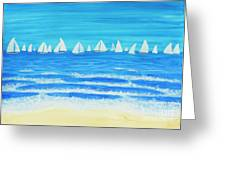 Sailing Regatta White Greeting Card