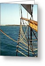 Sailing Ship Prow On The Caribbean Greeting Card