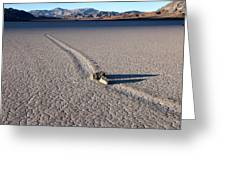 Sailing Stones Collide On The Racetrack Playa  Greeting Card