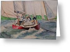 Sailing Teamwork Greeting Card
