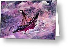 Sailing The Heavens Greeting Card