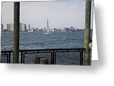 Sailing The Hudson River 1 Greeting Card