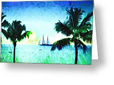 Sailing The Keys Greeting Card