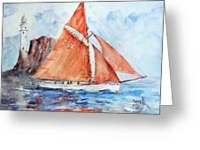 Sailing The Open Sea... Greeting Card
