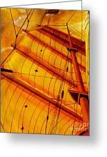 Sailing Through Gold Greeting Card