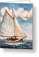 Sailing Through Open Waters Greeting Card
