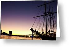 Sailing Through The City Greeting Card