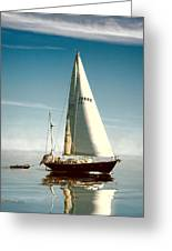 Sailing Through The Watch Hill Pass. Greeting Card