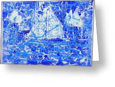 Sailing With Friends Greeting Card